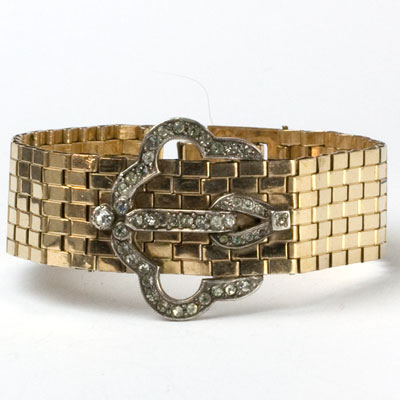 Gold-filled Retro Modern bracelet by Dorsons