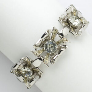 Coro vintage bracelet in sterling with diamante