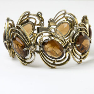 Elsa Schiaparelli Golden Topaz and Citrine 1950s Bracelet