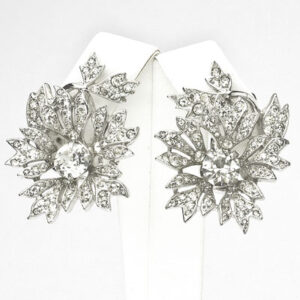 Dior vintage jewelry – diamante trembler earrings