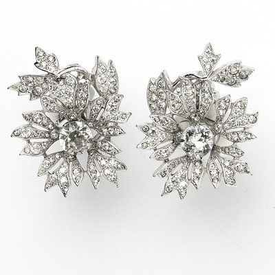 1950s Dior trembler earrings