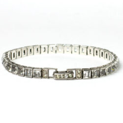 Diamante & sterling Art Deco bracelet