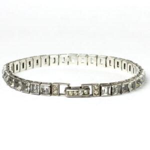 Diamante & sterling Art Deco bracelet
