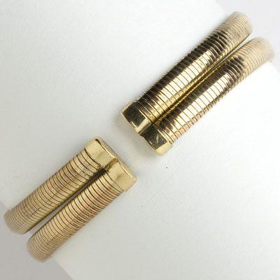Back of Forstner 1940s gold-filled bracelet