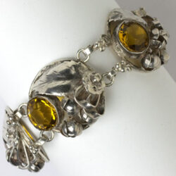 Silver and citrine bracelet by Hobé