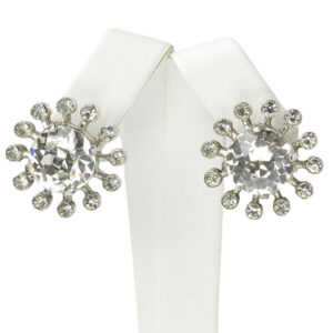 Eisenberg earrings with diamantés set in sterling