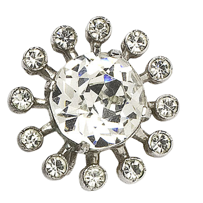 Close-up view of one Eisenberg earring