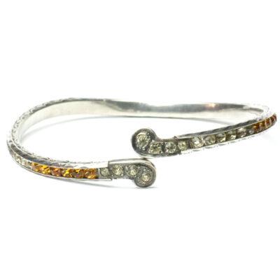 Leach & Miller citrine & diamante bracelet