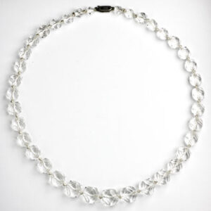 Graduated strand of lead crystal beads