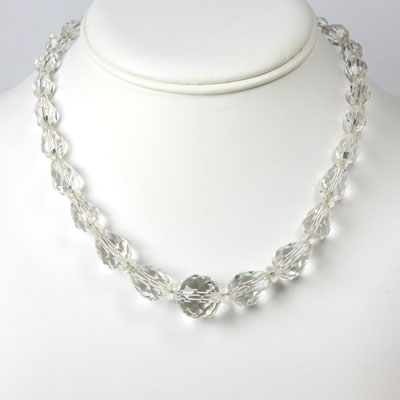 Crystal teardrop bead necklace from 1920s