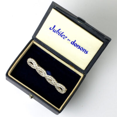 Dorsons twisted bar brooch in original box