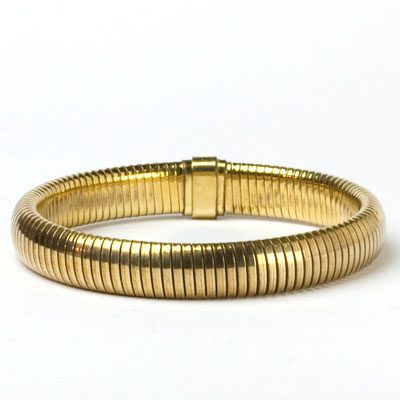 Forstner 1940s gold flexible bracelet