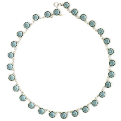 Aquamarine Art Deco necklace