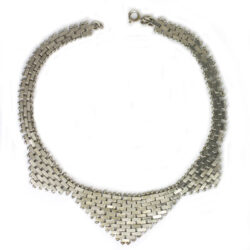 Front of chrome brickwork necklace