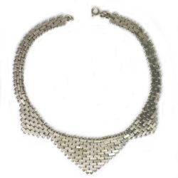 Front of chrome brickwork necklace
