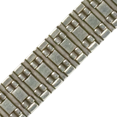 Close-up view of bracelet back, showing construction