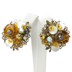 Citrine and topaz earrings by Alice Caviness