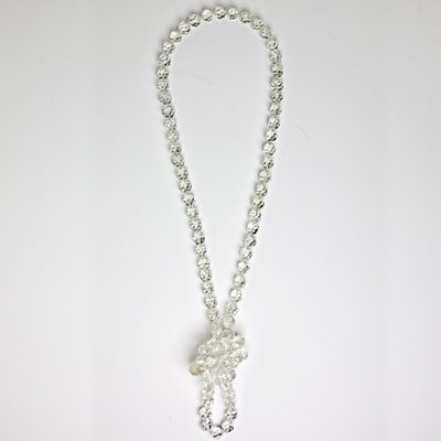 Crystal bead necklace knotted