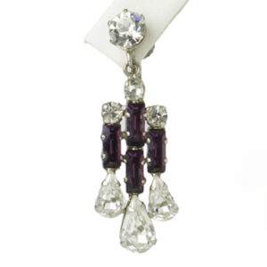 Close-up view of single earring