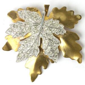 Maple leaf brooch by McClelland Barclay