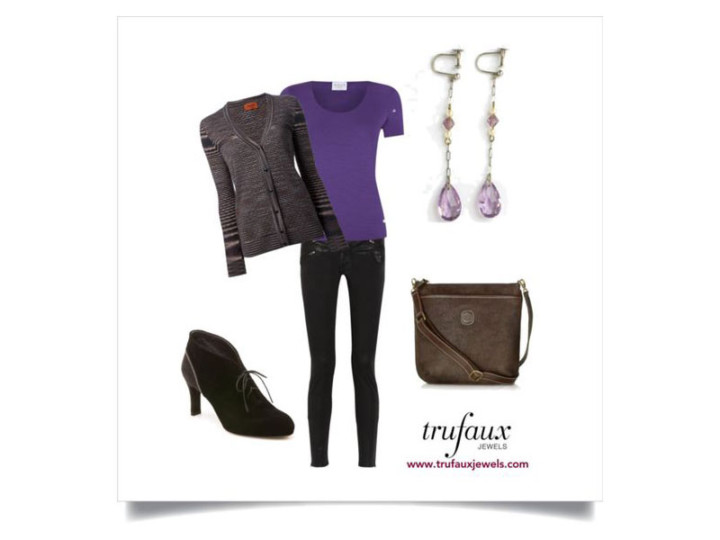Art Deco Chic: Wearing Amethyst with Brown