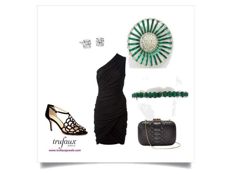 ... fashion staple for decades (if not centuries) the fashion world credited Gabrielle (Coco) Chanel with originating the little black dress in the 1920s.  sc 1 st  TruFaux Jewels & Dress Up Your Little Black Dress with Vintage Costume Jewelry ...