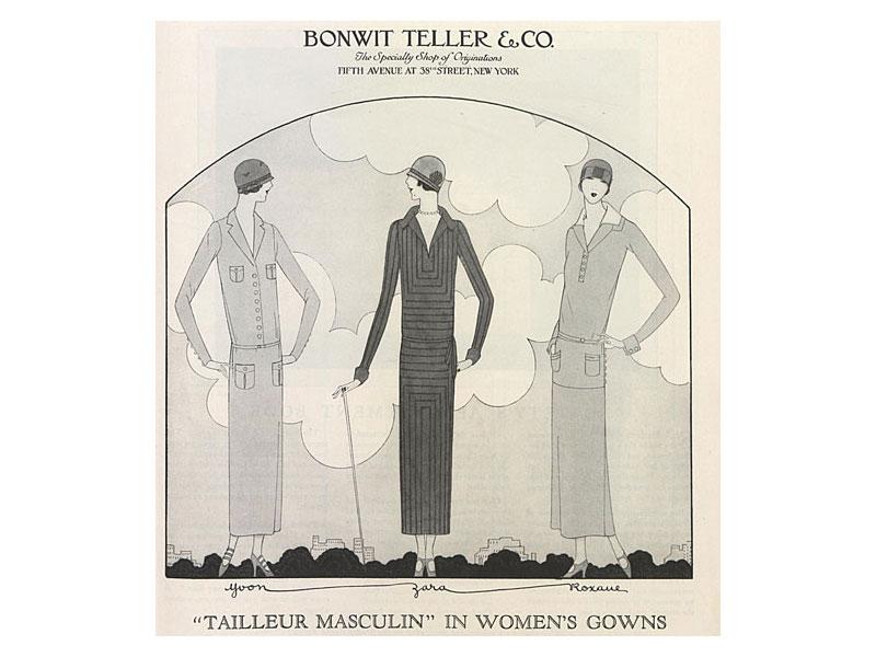 Downton Abbey 1920s fashion in Bonwit Teller ad