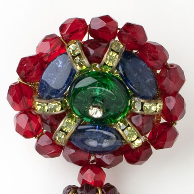 Close-up view of brooch top
