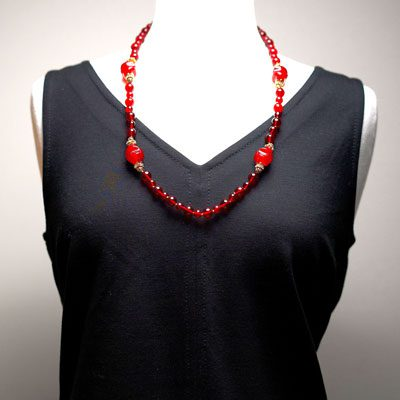Opera-length Miriam Haskell necklace