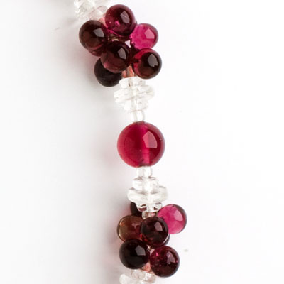 Close-up view of clusters & single beads, & spacers
