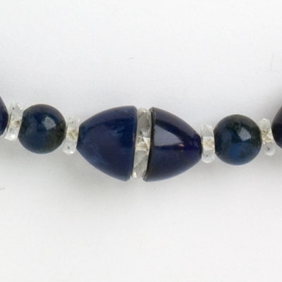 Close-up view of beads