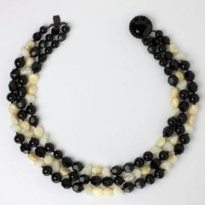 1950s beaded necklace by Hattie Carnegie