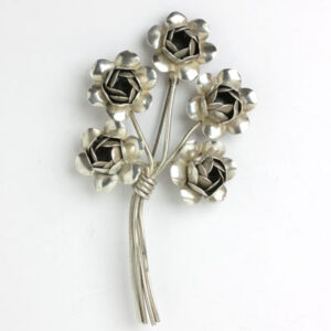 Coro flower brooch – sterling silver bouquet