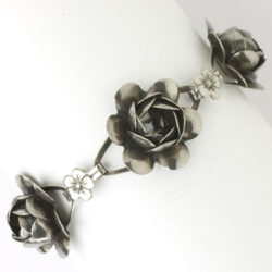 Coro-Craft sterling silver flower bracelet