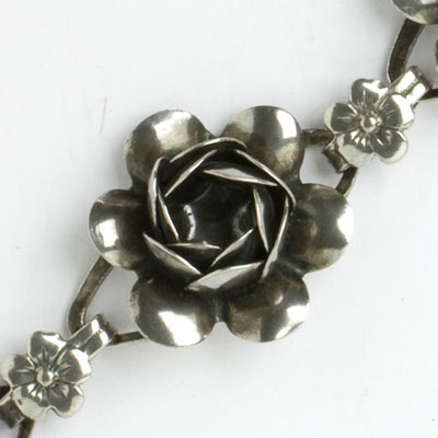 Close-up view of bracelet flower