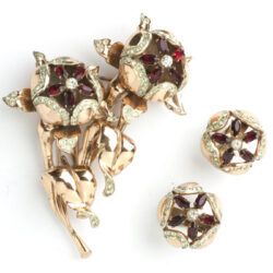 Coro Duette brooch & earrings set