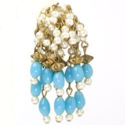 Close-up view of 1950s dangling earring