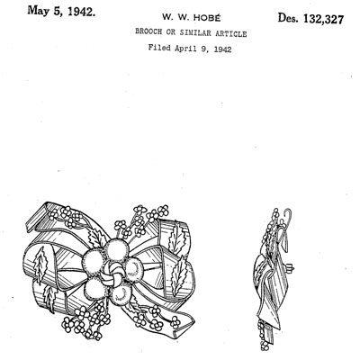 Hobé design patent D132,327