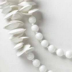 Close-up view of beads & shells