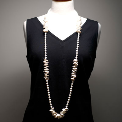 Necklace worn long