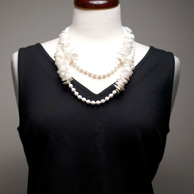 Another view of necklace worn doubled