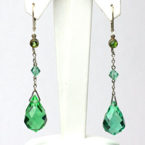 Green briolette earrings