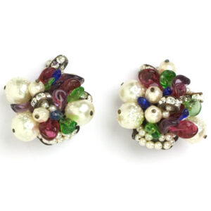 Louis Rousselet 1950s earrings