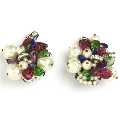 Louis Rousselet 1950s earrings