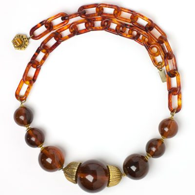Miriam Haskell 1960s disco necklace