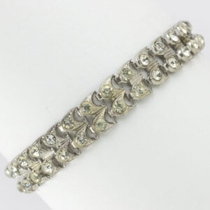 Bracelet in sterling w/diamanté