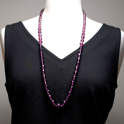 Necklace shown on mannequin