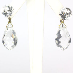 Faceted crystal drop earrings that are runway-worthy