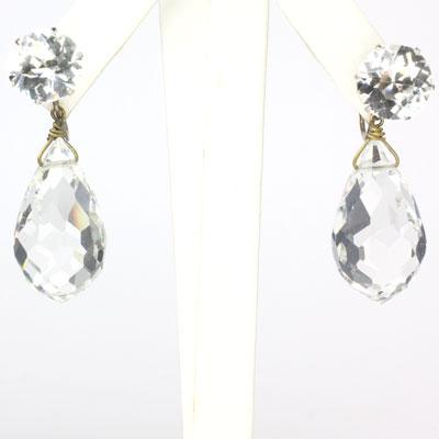Faceted crystal drop earrings that are runway-worthy