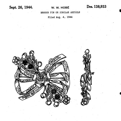 Hobé design patent D138,933